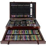 US Art Supply 142 Piece Mega Artist Creative Drawing Wood Box Set
