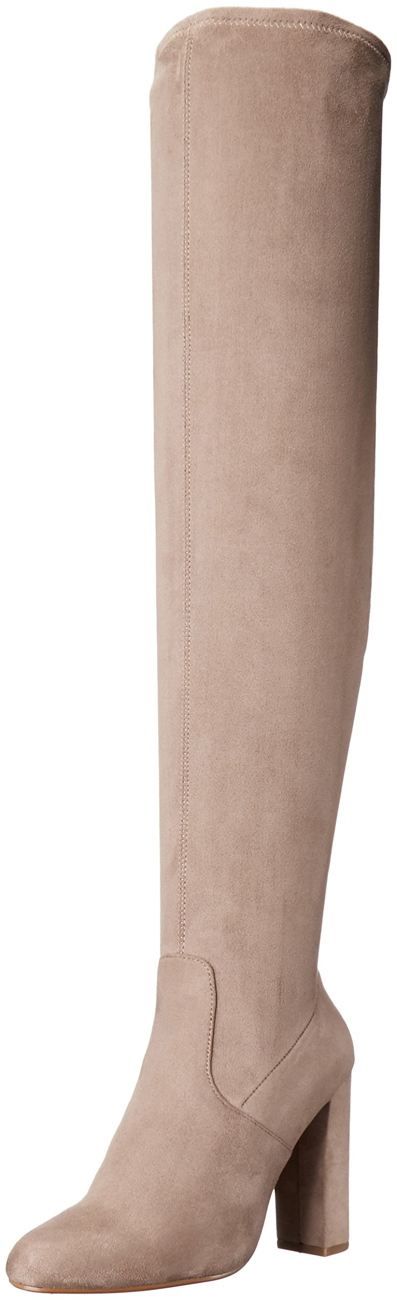 Steve Madden Women's Emotions Over The Knee Boot, Taupe, 6.5 M US