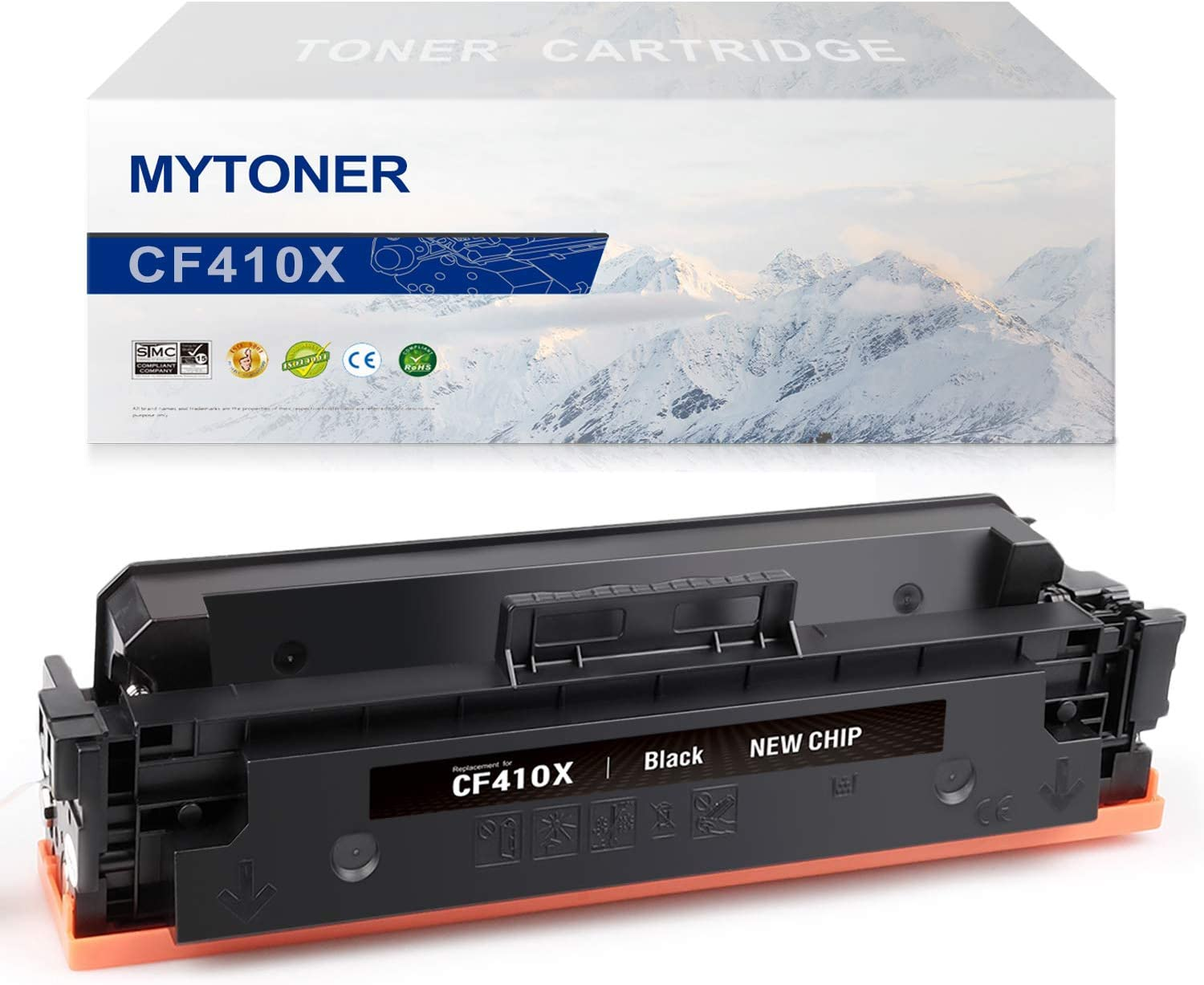 MYTONER Compatible Toner Cartridge Replacement for HP 410X CF410X CF410A 410A Toner for Color Laserjet Pro MFP M477fnw M477fdw M477fdn M477 M452dn M452nw M452dw M452 M377DW Printer Ink(Black,1-Pack)