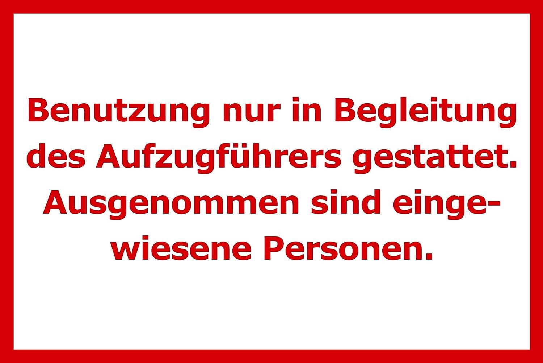 Ascensor Cartel de 801 # de eingewiesen Personas de rettet ...