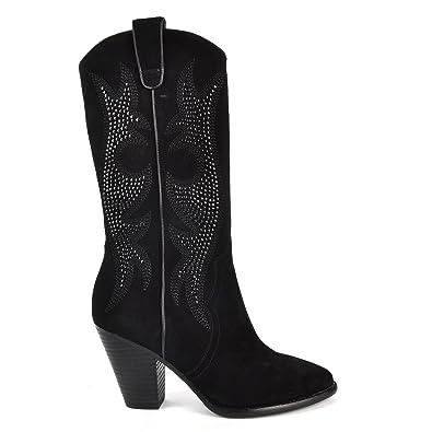 Ash Chaussures Daim Joyce Bottes en Daim Chaussures Noir Femme: 2f4df9