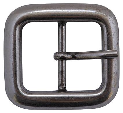 4999cda53fb4 Fronhofer Boucle de ceinture classique argentée, boucle à griffe moderne  pour les ceintures échangeables de