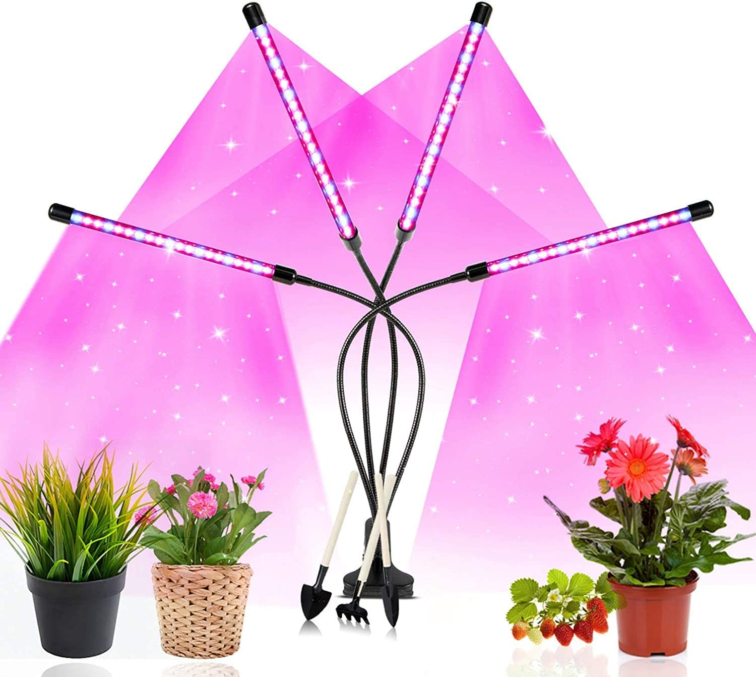 LED Grow Lamp for Indoor Plants,80W Full Spectrum & 10 Dimmable Brightness with 80LED Led Grow Light, 3 Switch Modes & 3 Auto Timer for Seeding Flowering Fruiting Succulent or Live Plants