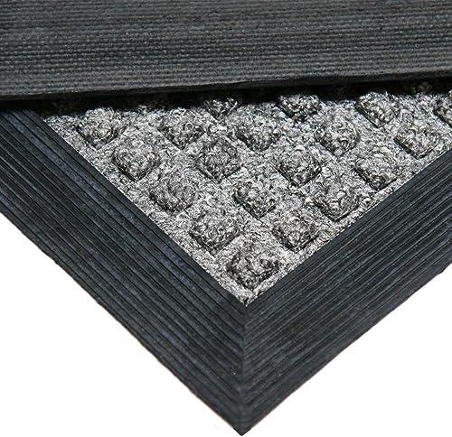 Rubber-Cal 03-200-ZWBR Nottingham Rubber Backed Carpet Entry Indoor Doormat, 2 x 3 , Brown