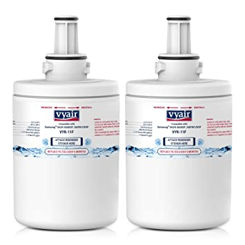 2 x VYAIR VYR-11F Ice & Water Refrigerator Filters to fit Samsung Aqua Pure