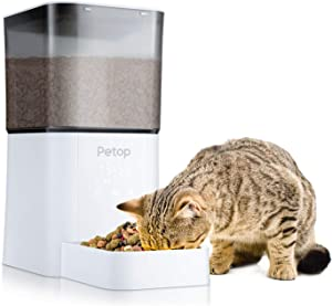 MIKOBOX Automatic Pet Feeder-Cat Auto Food Dispenser Timed Programmable, Designed for Small Medium Puppy Kitten