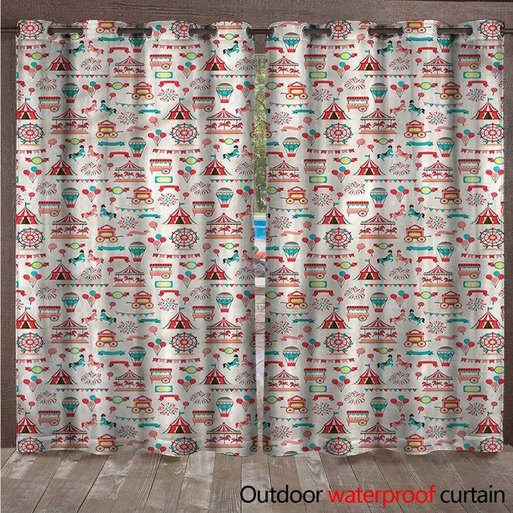 BlountDecor - Cortina con Ojales de Circo (108 x 96 cm): Amazon.es ...