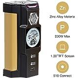 SIGELEI Vape E Cigarette Box Mod Battery 230W, Electronic Ecig Huge Power Vapour/Vape Mod Box Kit/No E Shisha Battery Without E Liquid,Nicotine Free (Vfeng, Black)