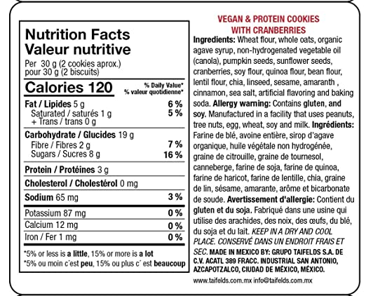Amazon.com: Vegan & protein cookies with chocolate flavored chips (Chocolate chips)