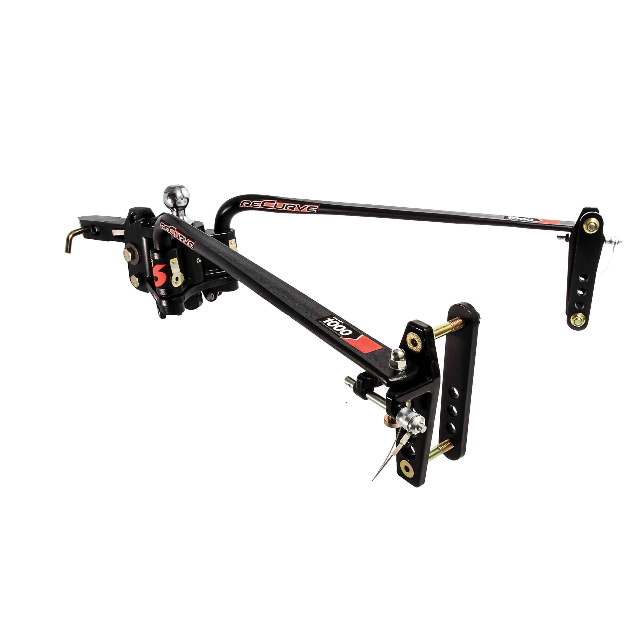 Camco Chem 48731 ReCurve R6 Distribution Hitch-600 lb Weight Capacity with Premium Adaptive Sway Control, Contains Hitch Ball by Camco Chem