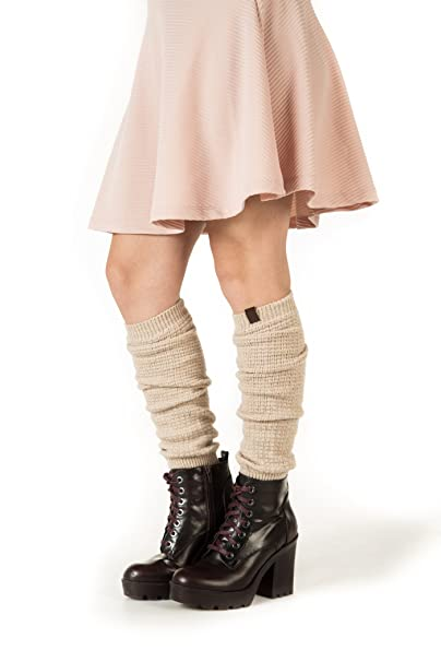 09780e0c20a Image Unavailable. Image not available for. Color  Marino Long Leg Warmers  For Women - Winter Knee High ...