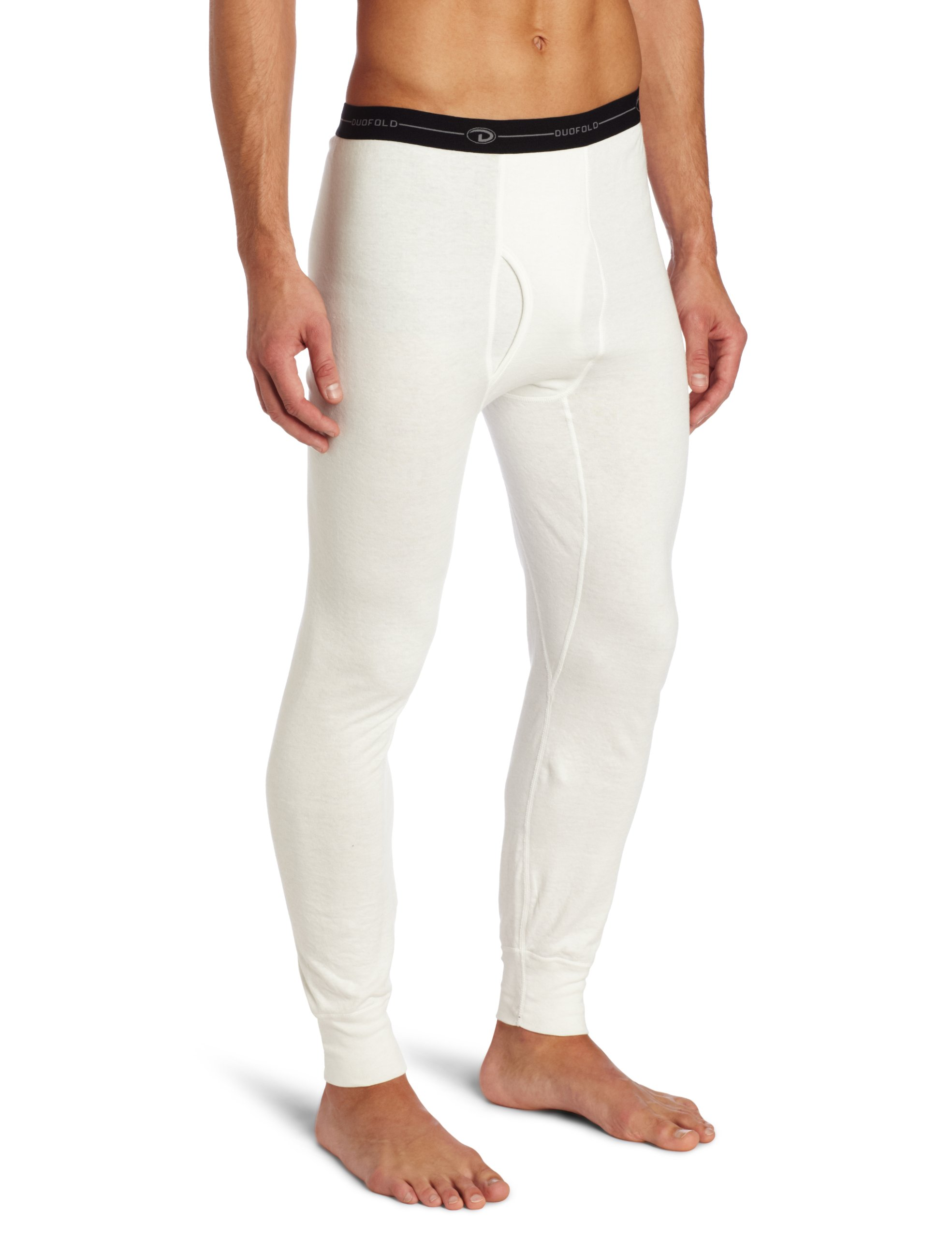 Duofold Men's Mid Weight Wicking Thermal Pant, Winter White, Small by Duofold