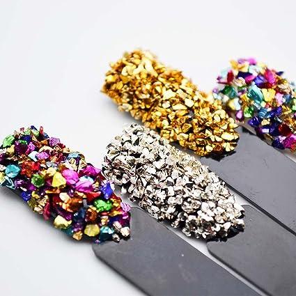 Juego de 12 piedras de cristal rotas para uñas con gemas de imitación y cristales decorativos