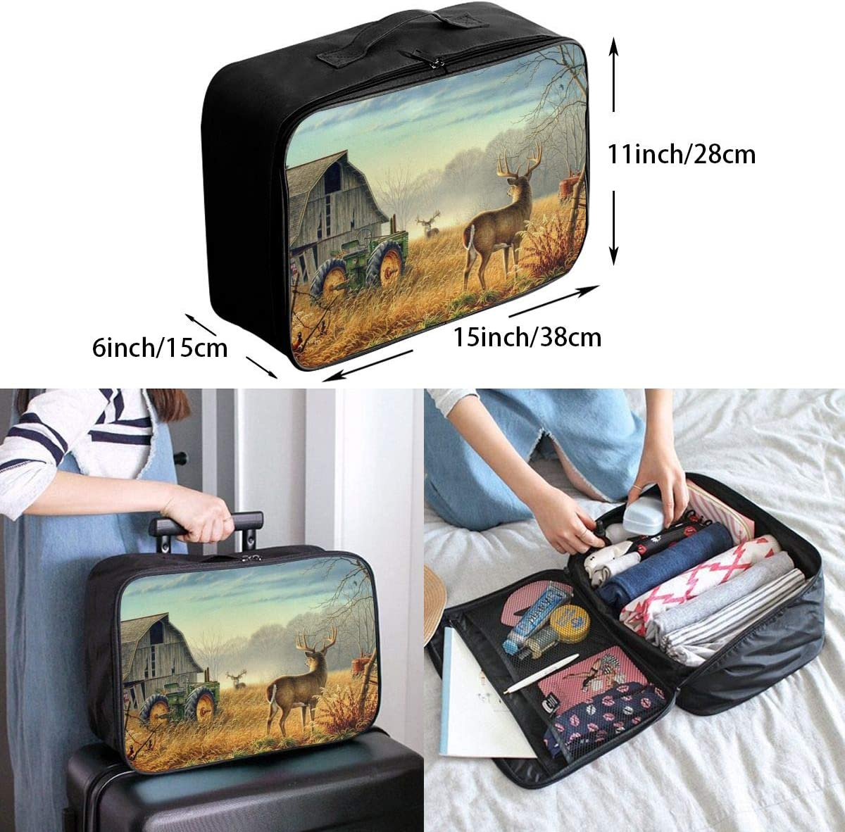 Sloth Travel Carry-on Luggage Weekender Bag Overnight Tote Flight Duffel In Trolley Handle