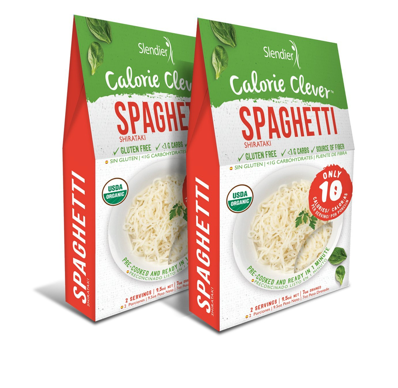 Amazon.com : Slendier Zero Carb, Low Calorie, Gluten Free, Certified Organic, Vegan, Shirataki Spaghetti Style pasta (7oz) (Pack of 6) : Grocery & Gourmet ...