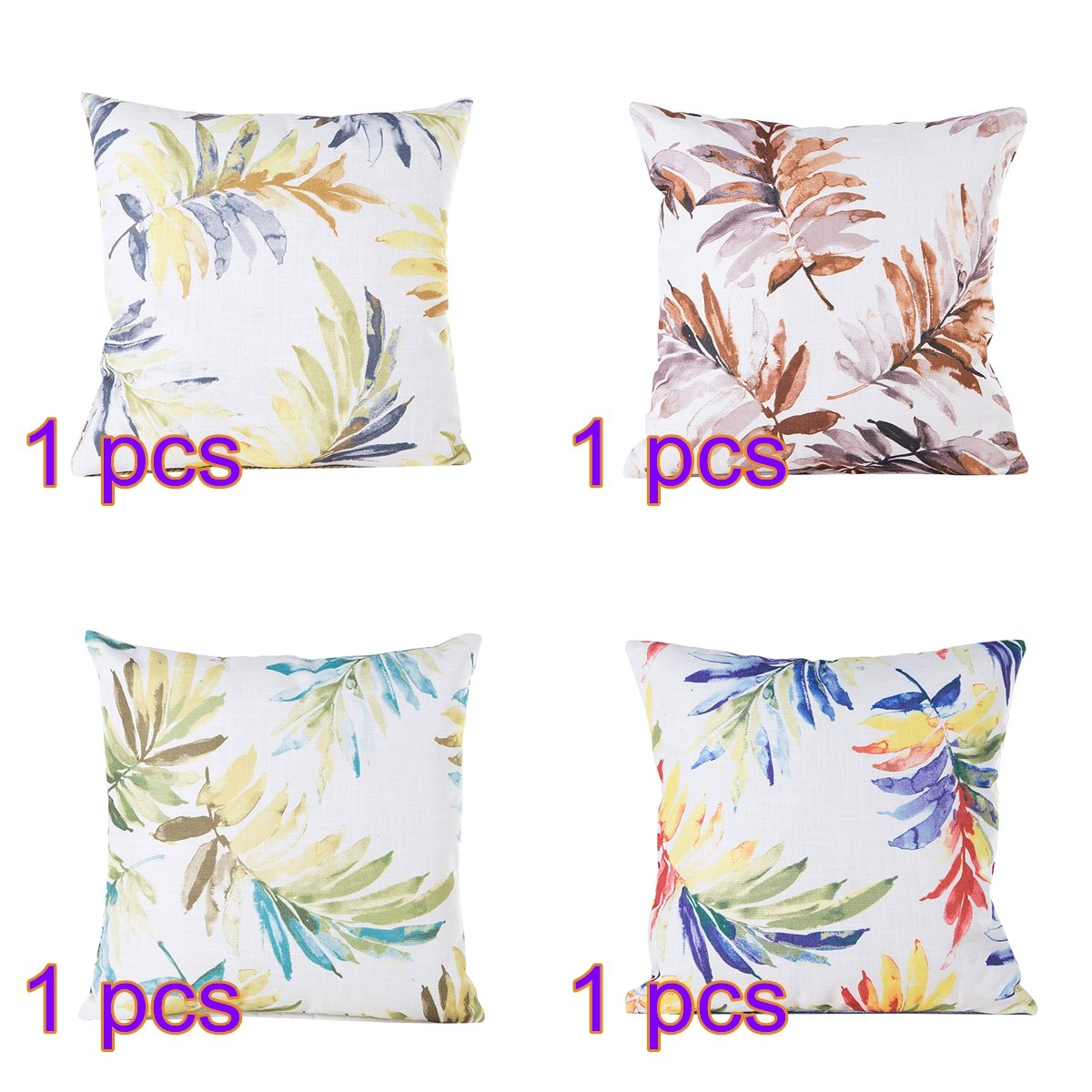 BELUPAI Pillow Cushion Four Different Feather Soft Adjustable Patterns Hypoallergenic Washable Removable Cover Hotel Home Bedding Pillows 4045CM set of 4