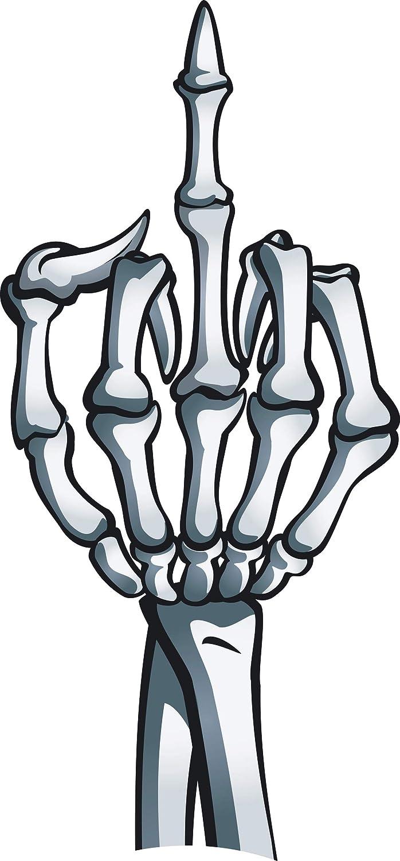 Middle Finger Skeleton Bone *Vinyl Decal Sticker* *17 Colors to Choose*