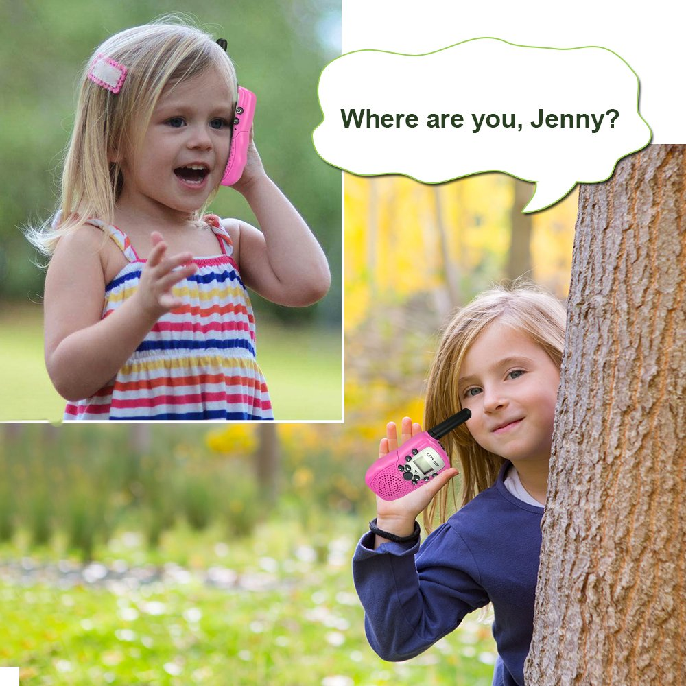 Toys for 3-12 Year Old Girls, DIMY Walkies Talkies for Kids Girls Toys Age 3-12 Year Old Girl Outdoor Toys for Kids Pink DJ06 by DIMY (Image #7)