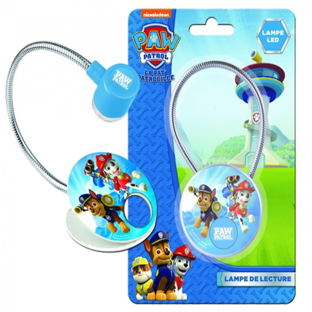 Official Paw Patrol Childrens Flexible Book Reading, Led Clip on Light Lamp Paw. Patrol