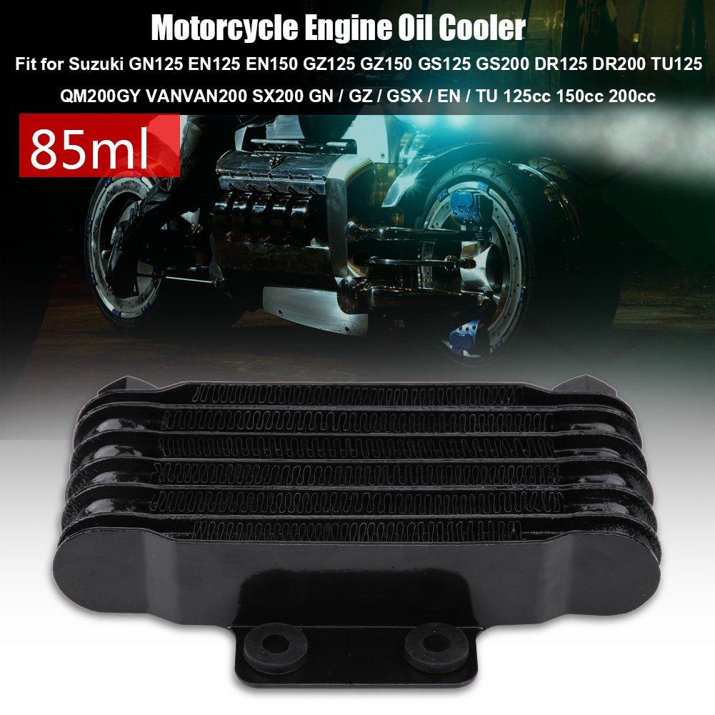 KIMISS Enfriador de Aceite - Enfriador de Aceite del Motor de la Motocicleta, Kits de Radiadores de Refrigeración para GN125 EN125 EN150 GZ125 GZ150: ...