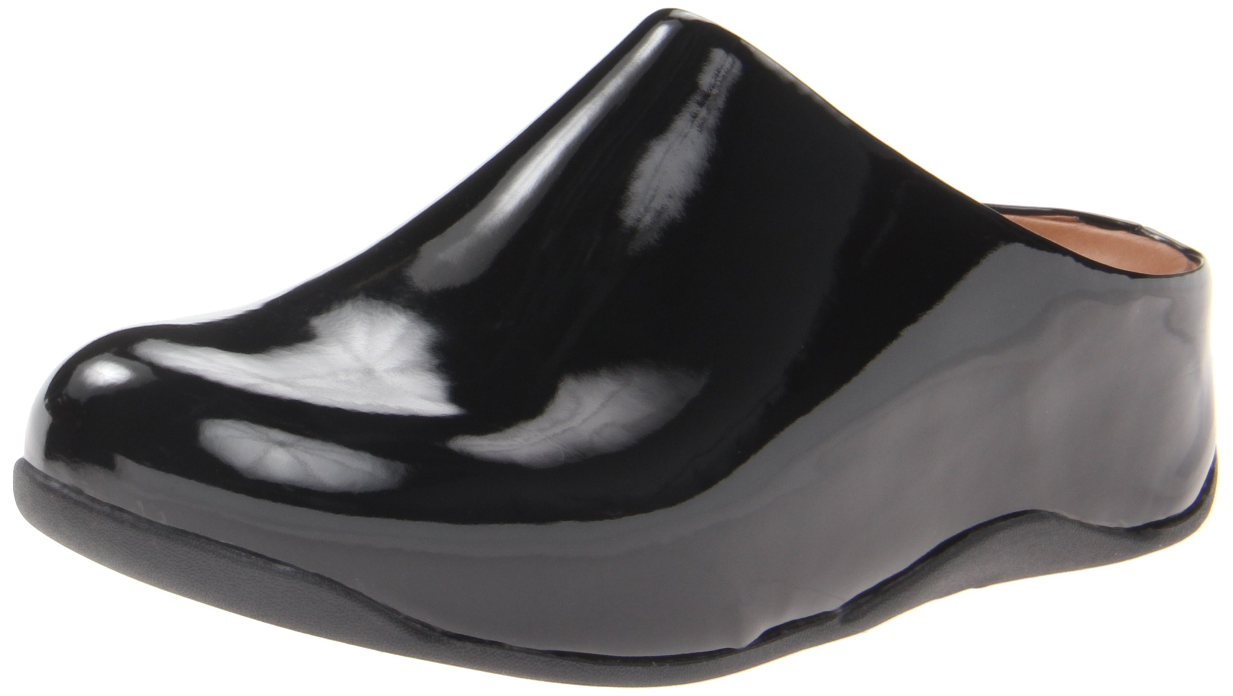 FitFlop Women's Shuv Patent Mule,Black,10 M US