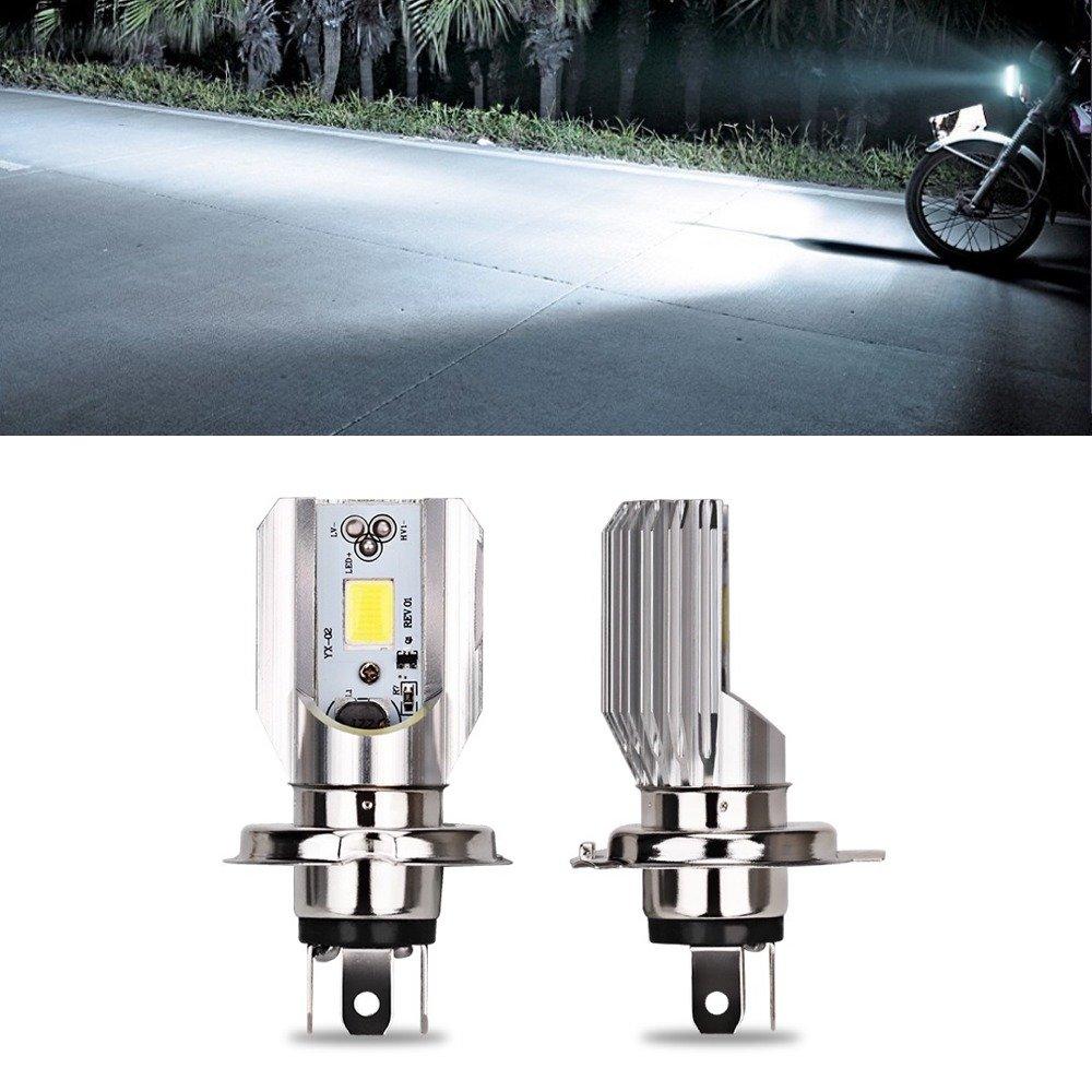 12 V HS1 H4 Led Moto Cyclomoteur Scooter Lumière Ampoule Led HS1 H4 6000-6500K Led Moto ESS TECH® [1 PCS] Phare Ampoules Scooter Quad LYMOYO