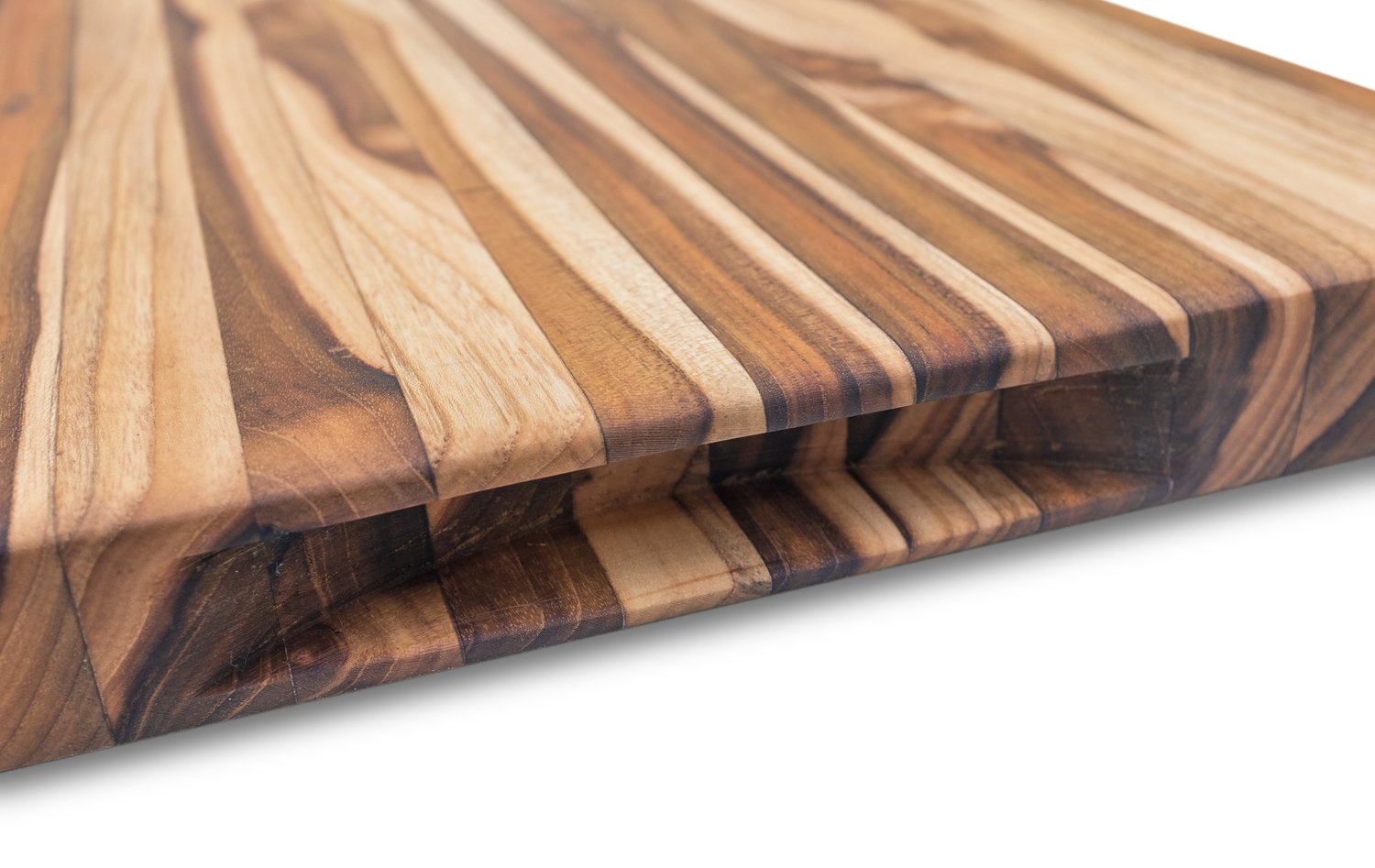 JD&Sons Teak Wood Large Cutting Board Perfect for Home Chefs & Professionals Gentle to Knife Durable Cut Board (20x15x1.5 in.) by JD&Sons (Image #4)