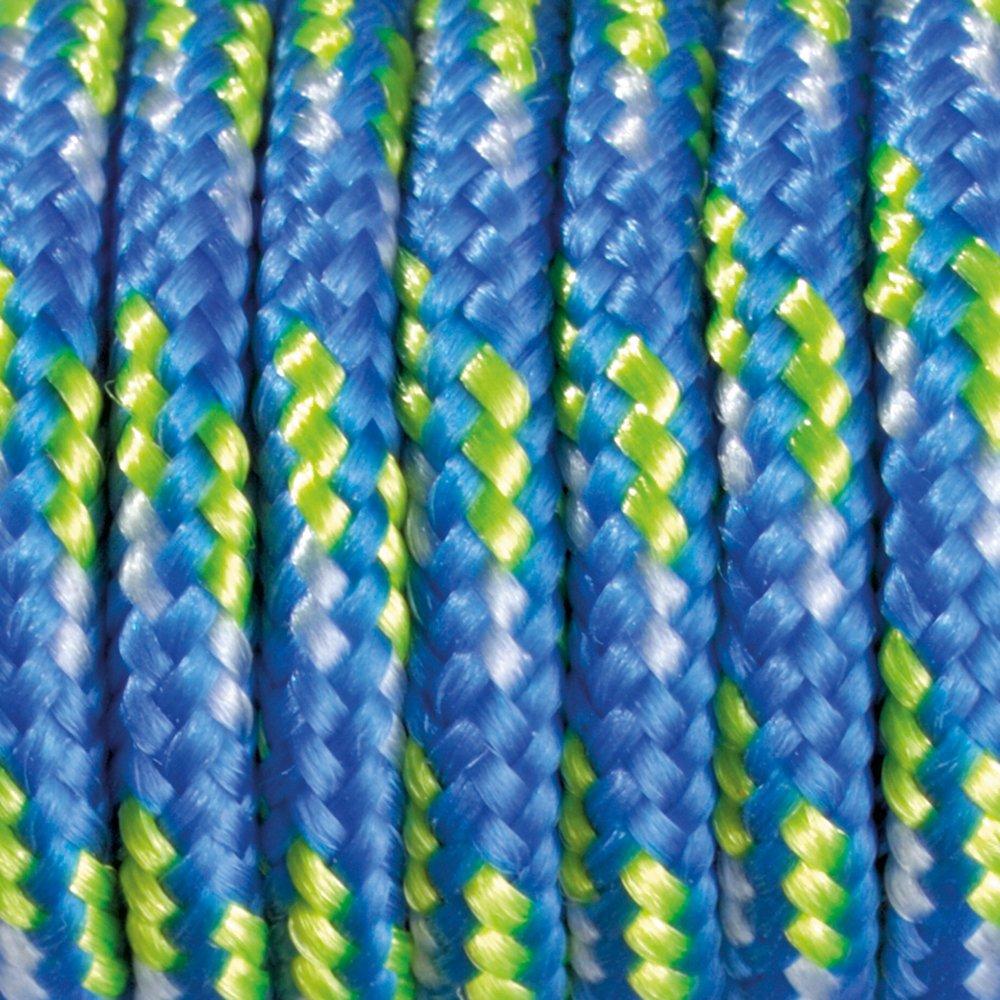 2/mm x 5 m Rollo de cordaje verde claro y blanco color azul Paracord