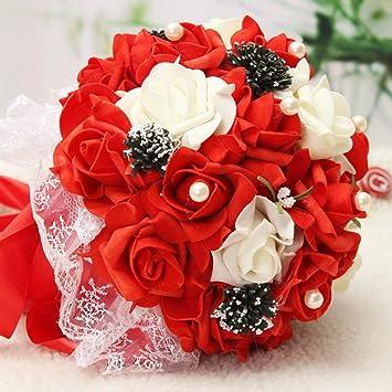 Bluelover Handgefertigte Rose Blumen Kunstblumen Bridal Bouquet