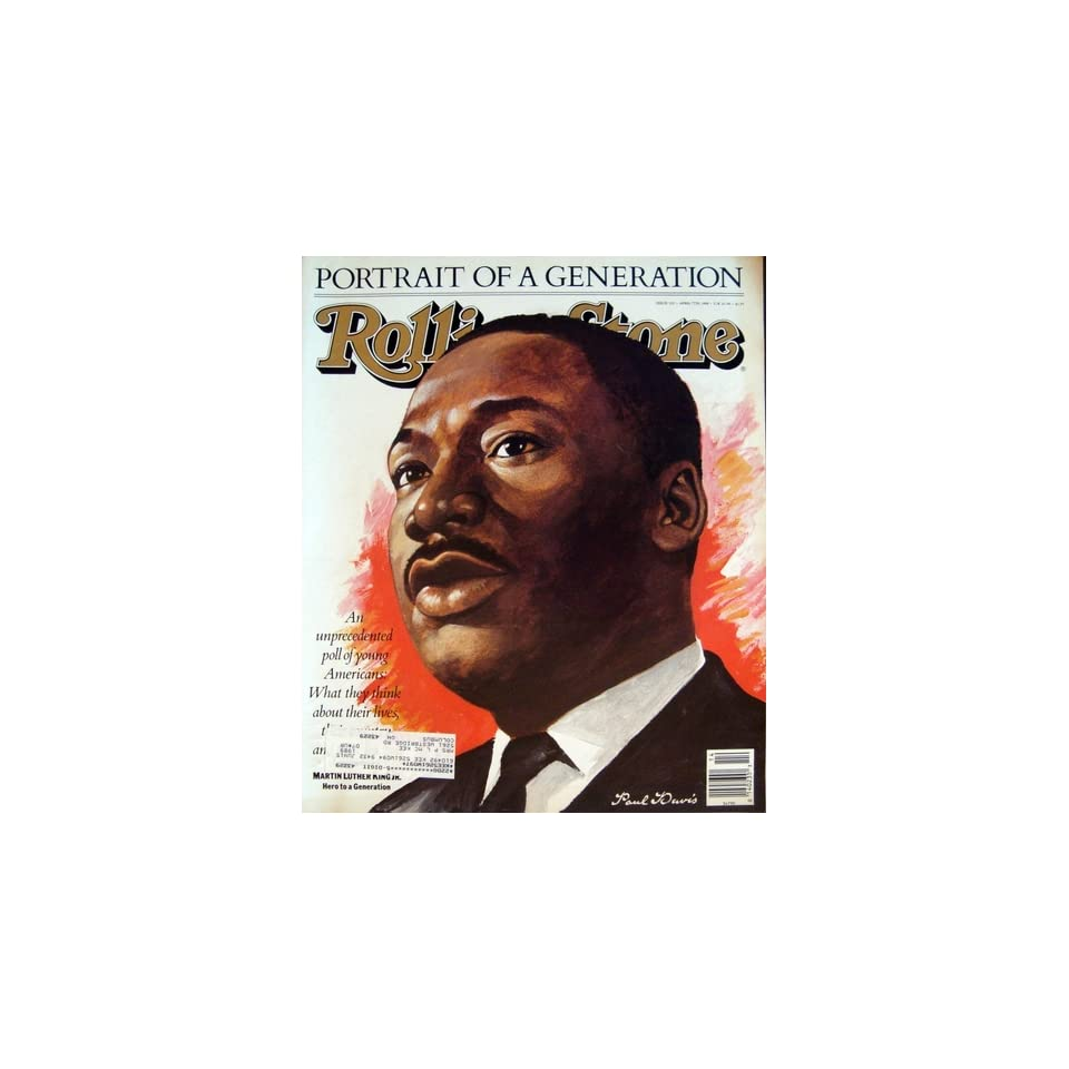 Rolling Stone Magazine April 7, 1988 Issue 523 Martin Luther King Jr. Cover