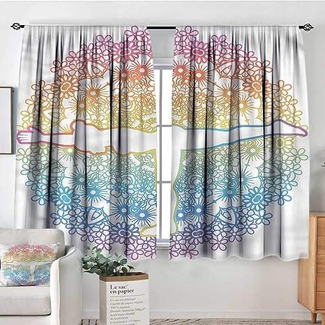 Amazon.com: familytaste Yoga, cortinas personalizadas Surya ...