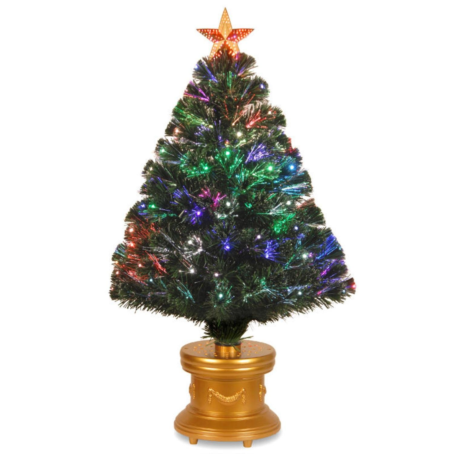 Tabletop Fiber Optic Christmas Trees