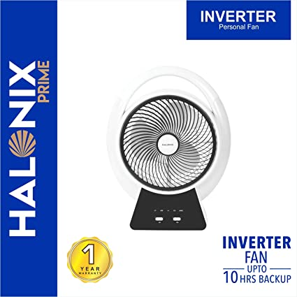 Halonix Inverter Bianco 200mm Fan with Built-in LED Light (White)