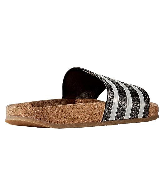 Adidas Originals Cork Adilette Sandalen Damen Schwarz153623 bfg76y