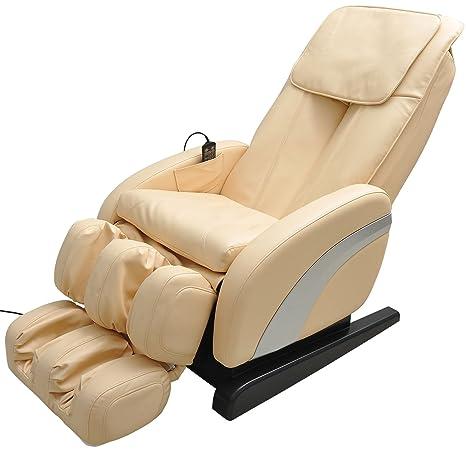 HOMCOM - Sillón de Masaje de Piel reclinable Multifuncional ...