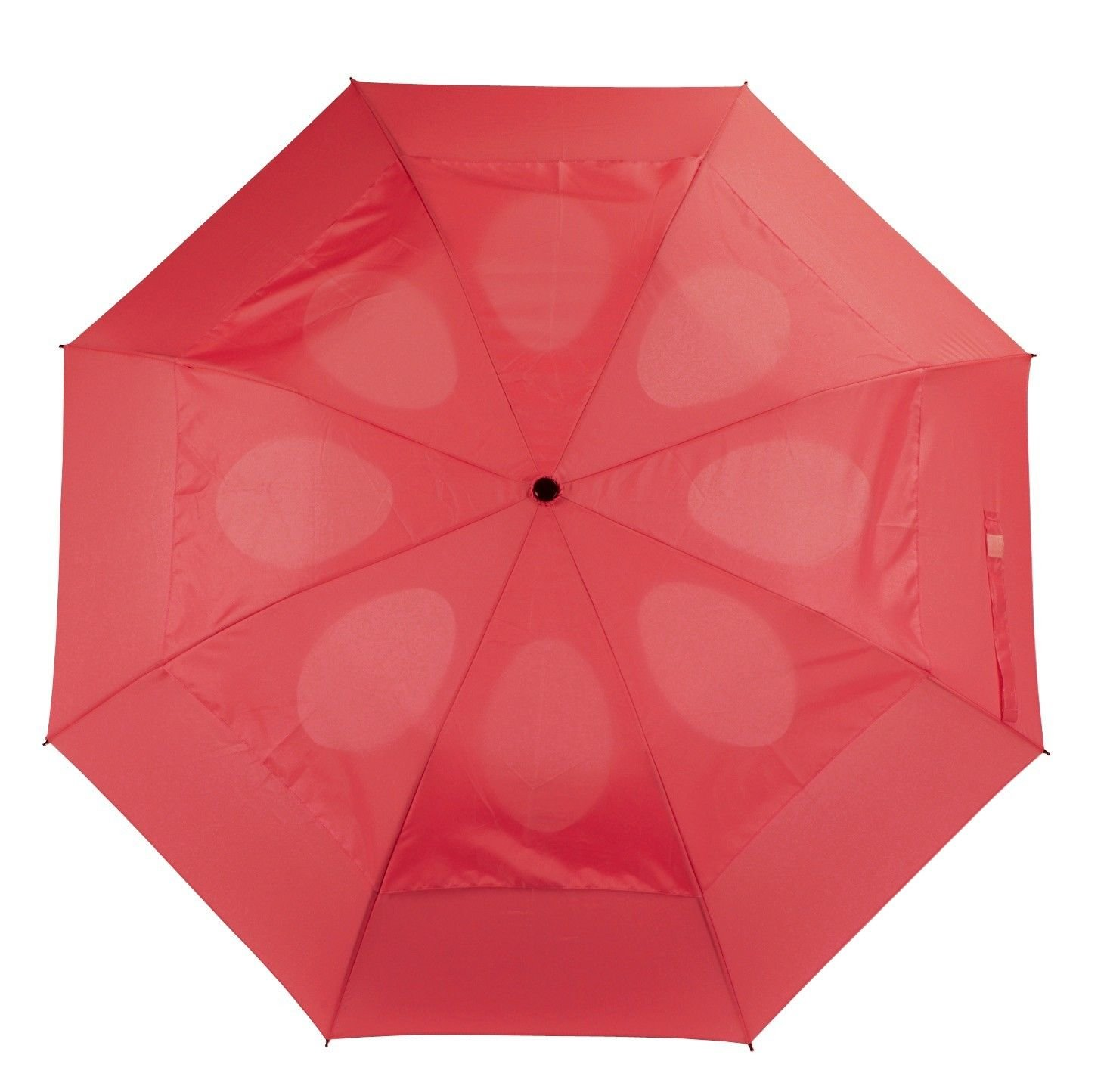 Windproof Umbrella Wind Resistant Folding Double Vented Rain Canopy with Strong Open Close (Black)