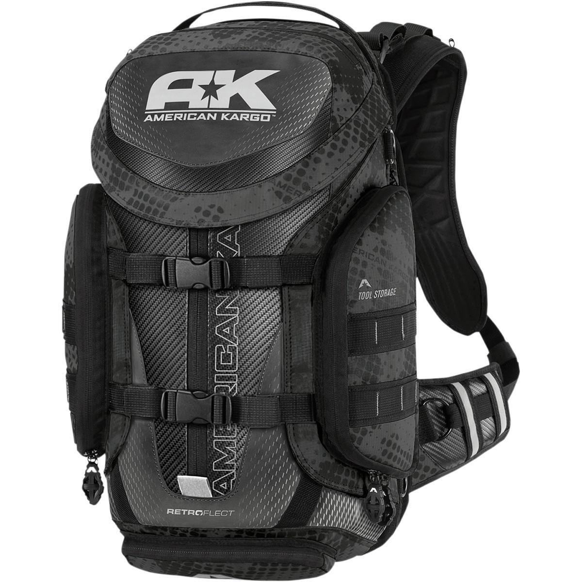 American Kargo 3517-0407 Reflective Black Trooper Backpack