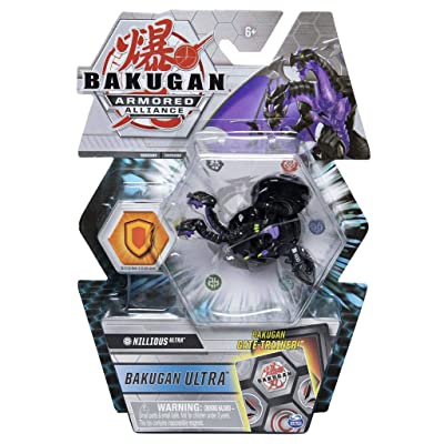Bakugan Ultra, Darkus Nillious, Season 2 Armored Alliance - 3-inch Tall Collectible Transforming Creature, for Ages 6 and Up: Toys & Games [5Bkhe0306493]