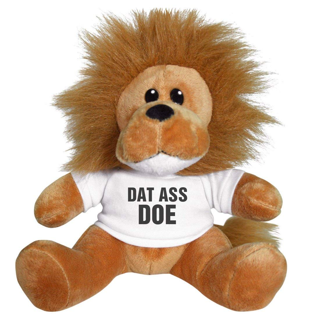 4320fe1b4 Amazon.com: Customized Girl Dat Ass Doe Valentine Gift Lion: 8 Inch Lion  Stuffed Animal: Toys & Games