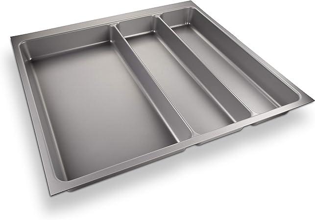 grigio argento ORGA-BOX/® II Inserto Portaposate per Nobilia Cassetto da 45 462 x 355 mm