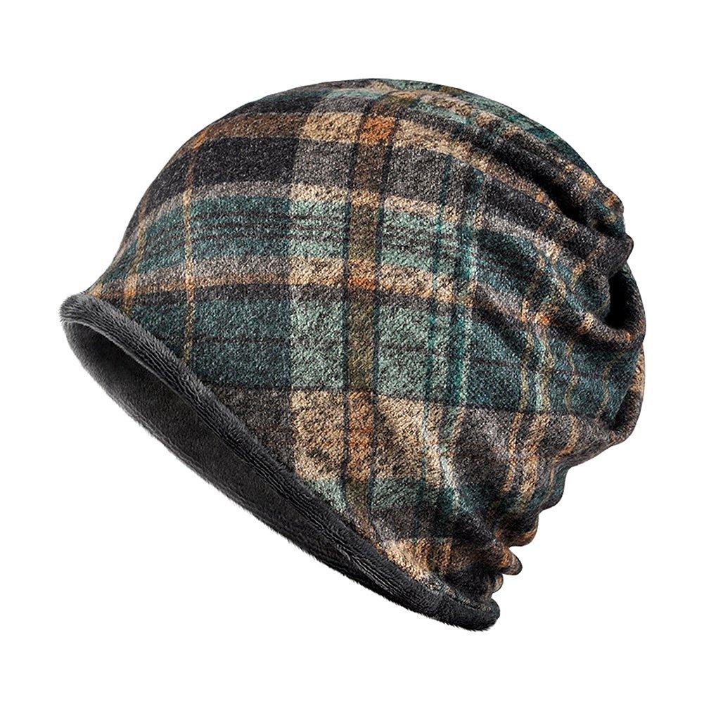 Arcweg scaldacollo cappello beanie tubolare invernale unisex antivento e multiuso sciarpa collo in pile con motivo da uomo e donna