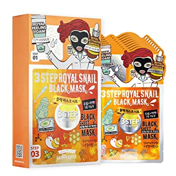 3 Step Black Sheet Mask - Royal Snail 0.93oz (6 Pack) SURGI CREAM Hair Remover Extra Gentle (Face) SG82565