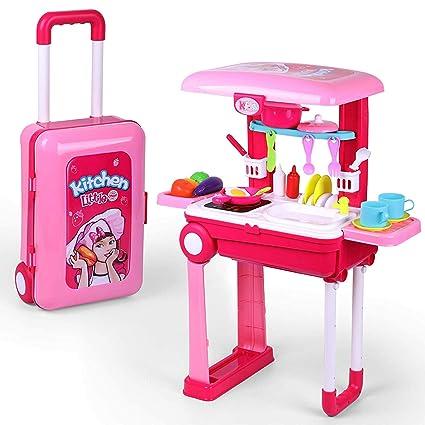Amazon.com: Pretend Play - Juego de cocina para niños con ...
