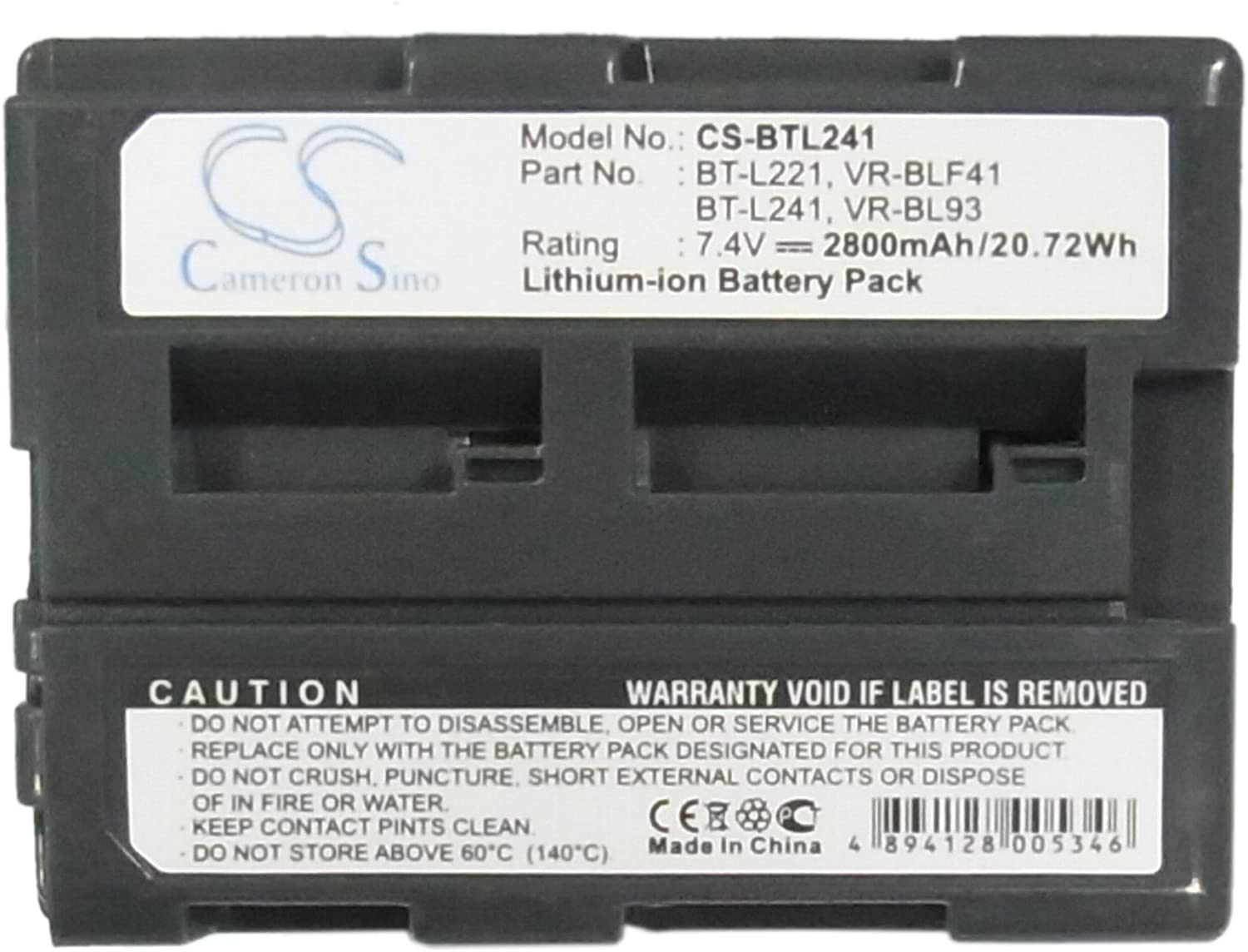 Replacement For Sharp Vl-e630u Battery By Technical Precision