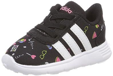 online store 67900 c5fc3 adidas Lite Racer Inf Chaussons Mixte bébé, Noir (NegbasFtwblaRostiz 000