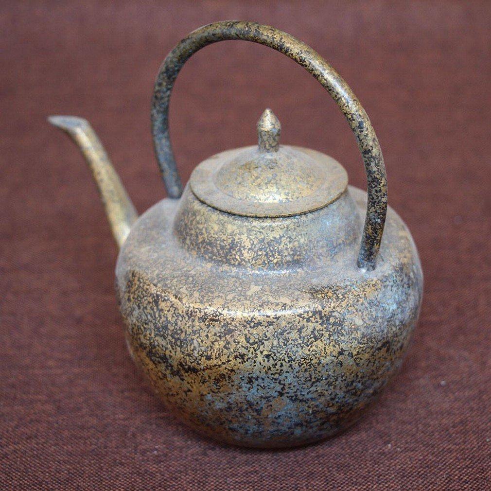 QGD Antique Antiquités Antiquités en Métal Artisanat Ornements Micro Paysage Accessoires de la Maison Portable Pot