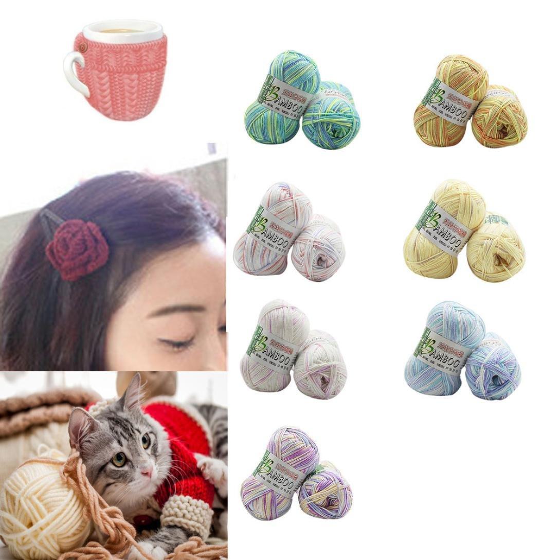 Gotd Bamboo Cotton Yarn Warm Soft Natural Knitting Crochet Knitwear Wool Yarn