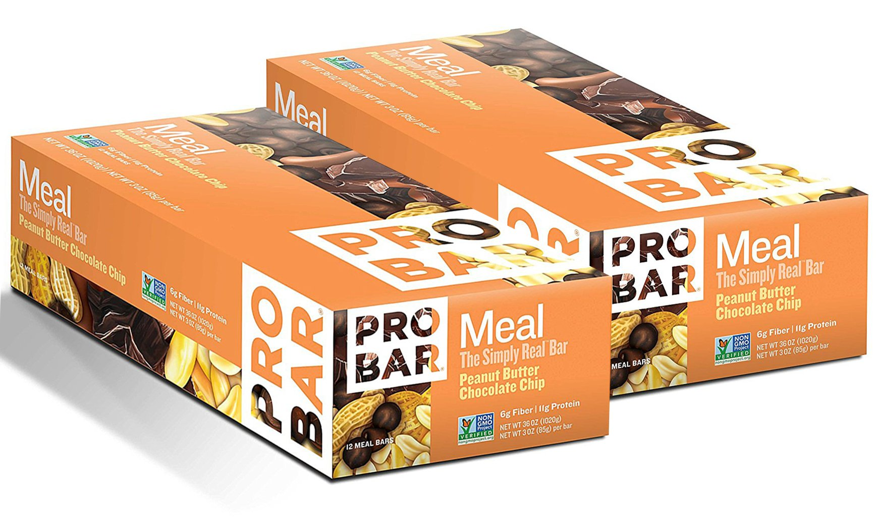 ProBar Meal Bar- Peanut Butter Chocolate Chip 12 count (2 Pack)