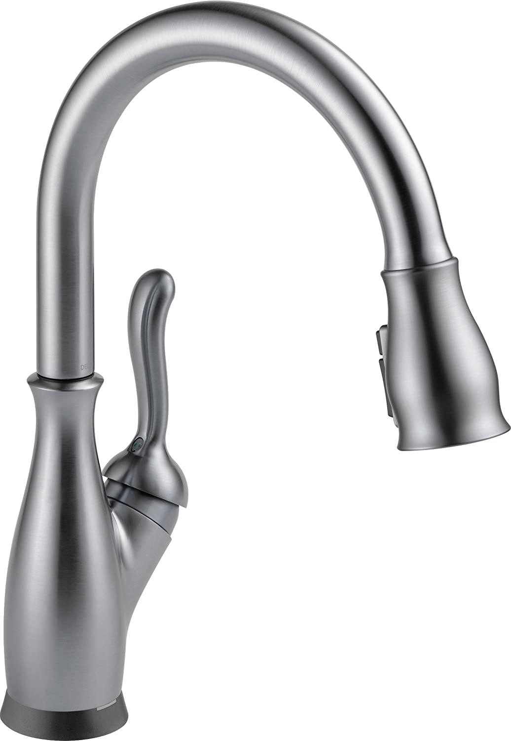 Delta Faucet Leland Single-Handle Touch Kitchen Sink Faucet with Pull Down Sprayer, Touch2O and ShieldSpray Technology, Magnetic Docking Spray Head, Arctic Stainless 9178T-AR-DST
