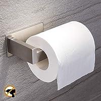 YIGII Toilet Paper Holder Adhesive - 3M Self Adhesive Toilet Tissue Holder for Toilet Roll Bathroom Stick on Wall…